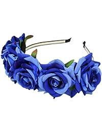 Zhuhaitf Casual Bonita Women Vacation Seaside Flower Wreath Flannel Accessories Hair Clip Special Flowers Headdress