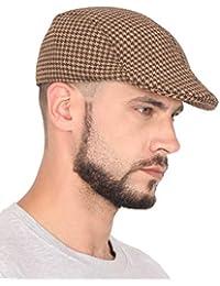 FabSeasons Checkered Polyester Golf Flat Cap