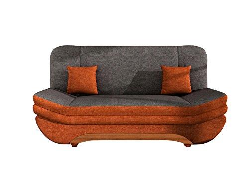Sofa Weronika Lux mit Bettkasten und Schlaffunktion, Schlafsofa, Große Farb- und Materialauswahl, Couch vom Hersteller, Wohnlandschaft (Lux 10 + Lux 06) thumbnail