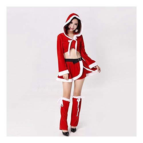 SDLRYF Weihnachtsmann Kostüm Weihnachten Kostüm Erwachsene Männer Und Frauen Santa Claus Kostüm Party Einheitliche