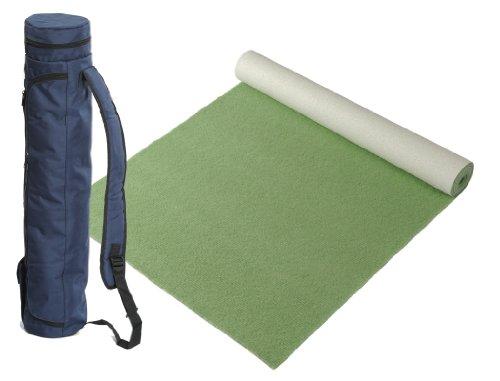 """Bausinger Yogaset: Yogamatte """"Die junge Matte"""", Florhöhe 5mm, 60x200 cm, moos, mit passender Yogatasche in blau"""