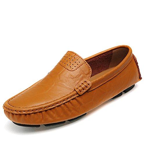 URBANFIND  Boat Shoes,  Herren Durchgängies Plateau Sandalen Gelb