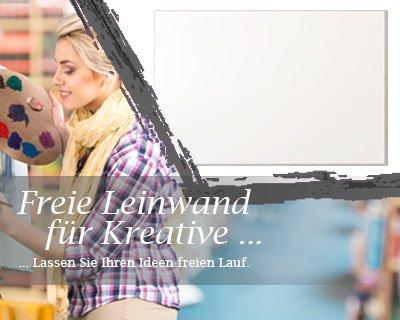 Leinwand mit Winter SALE in weiß, bemalbare Premiumqualität, aufgespannt auf Galerie Keilrahmen - Echtholz - Digital-Format - 100x80 cm - 350g/m² - fertig gerahmt, 7 Farben verfügbar - eigene Herstellung bei Bilderdepot24, faire Produktion in Deutschland