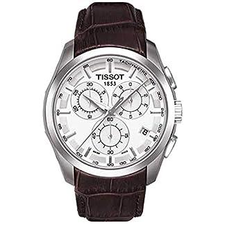 Tissot Couturier – Reloj (Reloj de Pulsera, Masculino, Acero Inoxidable, Plata, Cuero, Marrón)