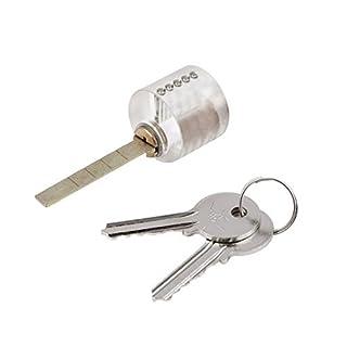 Yongse Cutaway T-Lock Transparent Lock-Trainings Fähigkeit Professionelle Visable Praxis Padlocks Dietriche Für Schlosser mit zwei Schlüsseln
