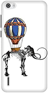 The Racoon Lean Mammoth Travels hard plastic printed back case / cover for Huawei Honor 6