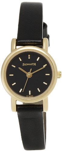 Sonata Analog Black Dial Women's Watch -NJ8976YL03W
