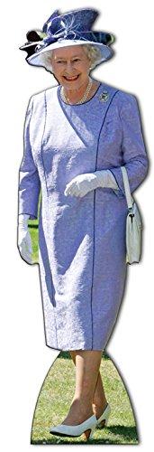 Star Cutouts Aufsteller Queen Elizabeth II im fliederfarbenen - Kunst London-themed