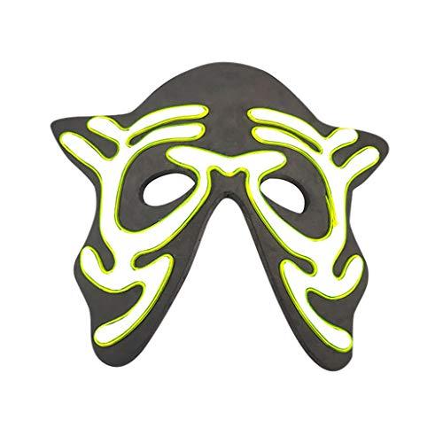 Kostüm Batman Up Light - Huacat Halloween Maske LED Masken Glow Scary Mask Leuchten Tanzmaske Fasching Festival Party Cosplay
