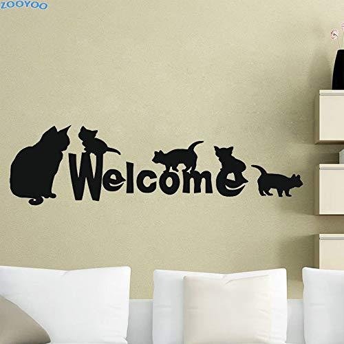 tzchen Willkommen Kreative Wandaufkleber Lustige Wandtattoos Wohnkultur Für Kinder Kinderzimmer Abnehmbare Wand Eine 133 cm x 43 cm L ()
