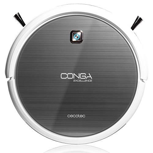 Cecotec Conga Excellence - Robot aspirador 4 en 1, barre, aspira, pasa la mopa y friega el suelo, silencioso...