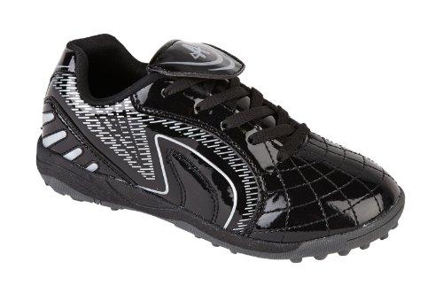 ragazzi e bambini Astroturf scarpe col tacco scarpe da ginnastica calcio tennis running junior taglie 10-2, Nero