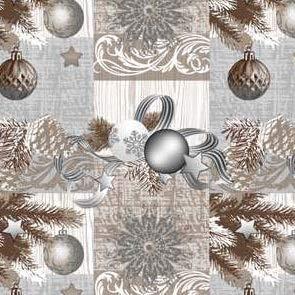 Wachstuch Tischdecke Meterware Weihnachten K848-3 Größe wählbar in eckig rund oval (100 x 140 cm eckig)