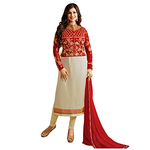 Salwar Soul Ayesha Takia Cream Color Georgette Fabric Fancy Party Wear Embellished...