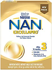 Nestle NAN EXCELLAPRO 3 Follow-Up Formula-Powder – After 12 months, Stage 3, 400g Bag-In-Box Pack