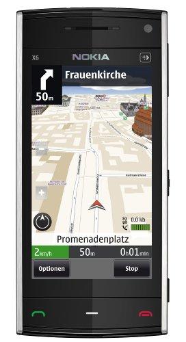 Nokia X6 Navi Smartphone (8,1 cm (3,2 Zoll) Display, Touchscreen,  5 Megapixel Kamera, 16GB Interne Speicher) weiß Nokia X6 Touch Screen