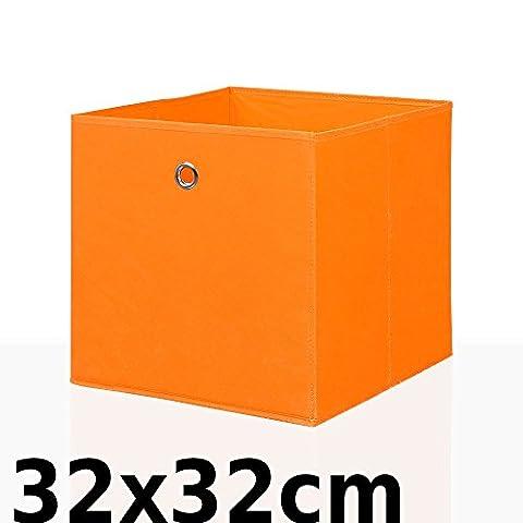 Faltbox Faltkiste Regalkorb Regalkiste Regalbox Aufbewahrungsbox Spielkiste Staubox Korb, Farbe:orange