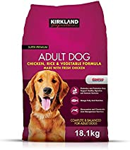 Kirkland Signature Adult Formula Chicken, Rice and Vegetable Dog Food 40 lb. (18.1KG), Brown, Extra Large