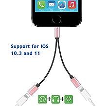 Auswaur adattatore & splitter per iPhone 7Plus, Dual Lightning audio per cuffie e cavo adattatore di ricarica per iPhone 7/7Plus