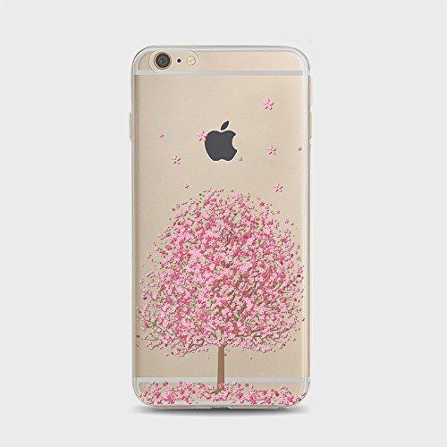Coque iPhone 5 5s Housse étui-Case Transparent Liquid Crystal Sakura en TPU Silicone Clair,Protection Ultra Mince Premium,Coque Prime pour iPhone 5 5s-style 1 style 6
