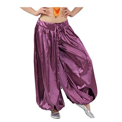 Kostüm Bauchtanz Männer - Erwachsene Männer und Frauen Bauchtanz Kostüme Tribal Wind Bloomers Multicolor Trainingshose (Color : Deep Purple, Size : M)