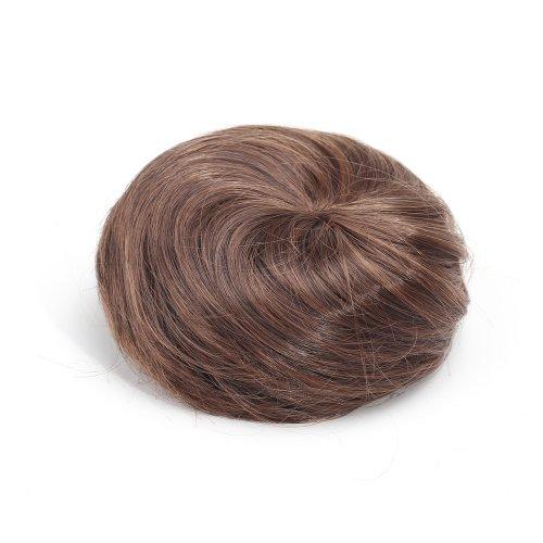 miss20Haarverlängerung/Haarteil Zopf seidig Dount Kordelzug glattes Haar bun-medium Blonde Nr. 613/27# (Voll Kordelzug Elastischer)