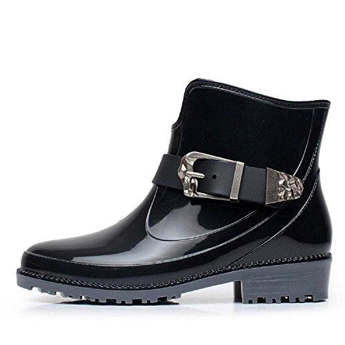 Europa und die Vereinigten Staaten Mode Martin Regen Stiefel Black