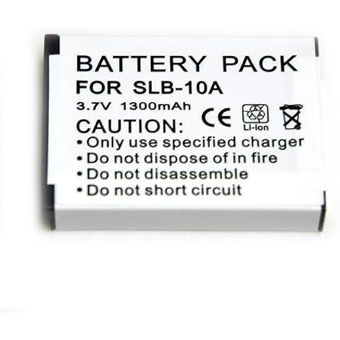 SLB-10A slb10a battery 1300 mah Batería para Samsung ES50, ES55, ES60, ES63, EX2F, HMX-U10, HZ10W, HZ15W, IT100, L100, L110, L200, L210, L310W, M100, M110, NV9, PL50, PL51, PL55, PL60, PL65, PL70, SL102, SL202, SL310W, SL420, SL502, SL620, SL720, SL820, TL9, TL100, WB150, WB150F, WB151, WB152, WB152F, WB200F, WB250F, WB251F, WB280F, WB500, WB550, WB690, WB700, WB710, WB750, WB800F, WB850F, WB855F,