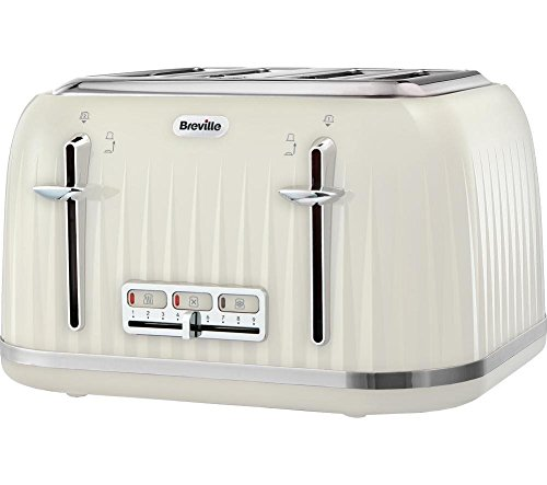 Breville VTT702 Impressions 4 Slice Toaster - Cream Best Price and Cheapest
