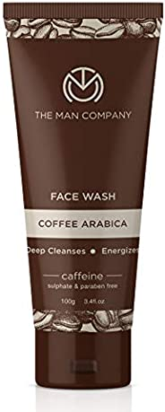 The Man Company Caffeine Face Wash with Coffee Arabica - 100 ml | Made in India