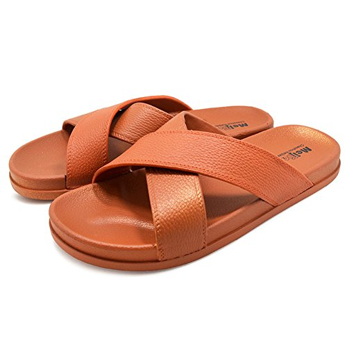 Polliwoo Herren Pantoffeln Gummisohle Unisex-Erwachsene Hausschuhe Sandalen Leicht tan