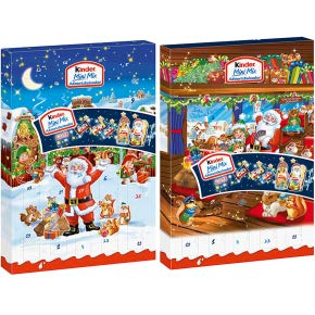 2 x Kinder Mini Mix Adventskalender 2 Motive