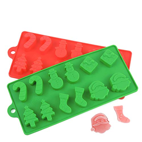 (FantasyDay® 2 Stück Silikon Backform/Muffinform für Muffins,Cupcakes,Kuchen,Pudding,Eiswürfel und Gelee - Weihnachten Strümpfe backform für eindrucksvolle Kreationen, hochwertige Silikon-Kuchenform)
