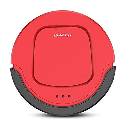 JAOMoy Der Roboter-Staubsauger eignet Sich für intelligente Mini-Kehrmaschinen für den Hausgebrauch mit automatischem Trocken- und Nassmodus,Red