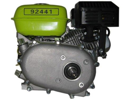 Varan Motors 92441 Motore a benzina 6,5 CV, 4,8 kW con frizione a bagno d'olio, riduttore 1/2, albero a chiavetta 19,96 mm.