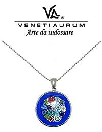 Venetiaurum - Collier en verre de Murano et argent 925, Made in Italy