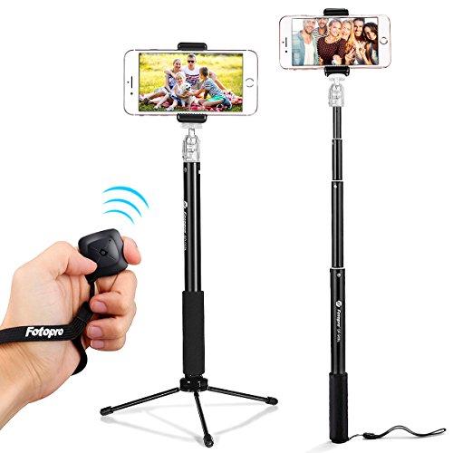 Fotopro Selfie Stick stativ Selfie Stange Stab Selfiestick mit Bluetooth Auslöser für iPhone X/8/7/7P/6s/6 Samsung Galaxy s8/s7 Huawei HTC Xiaomi Gopro