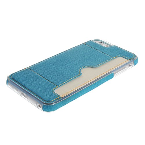 "MOONCASE pour Apple iPhone 6 Plus / 6S Plus (5.5"") Case Housse Gel TPU Case Silicone Coque Etui Cover Rouge Bleu01 #0223"
