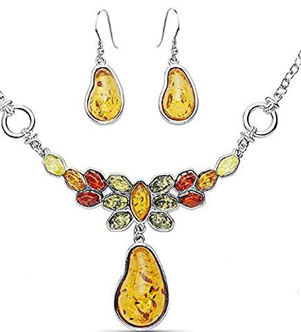 SaySure - Multicolor Pendant Necklaces Dangle Earring