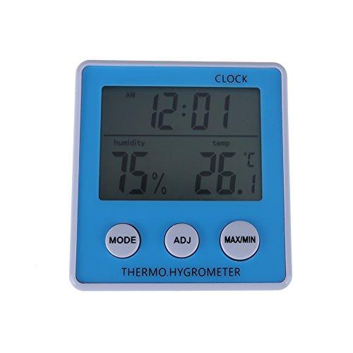 prettygood7Hygrometer Thermometer Uhr th-019Luftfeuchtigkeit Innen Digital LCD Meter -