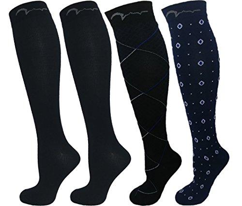 Swell Relief Design Kompression Socken für Damen und Herren, Herren, Blue Design Collection, Large/X-Large (Diamant Herren Socken)