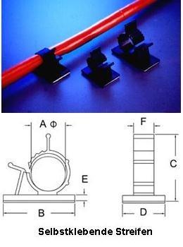 Rasterschelle 8-10,5mm, schwarz, selbstklebend 5 Stück von NETPROSHOP - Lampenhans.de