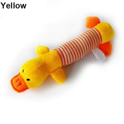 Catkoo Quietschspielzeug für Hunde und Welpen, mit Quietschelement, Schwein und Ente
