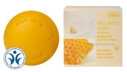 Speick Wellness Soap Dusch und Badeseife Milch + Honig -