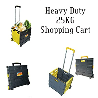 Folding Boot Cart Shopping Trolley Fold Up Storage Box Wheels Crate Foldable produced by Fun Daisy - quick delivery from UK.
