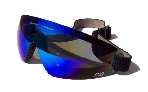 sorz Moto/Incassable parachute antibuée de sécurité goggles|jet Bleu Miroir Objectif Lanes Eyewear USA