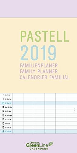 Pastell 2019 GreenLine Familienplaner
