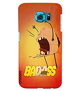 Omnam Badaas Spoiled Cartoon Giving Its Anger Out Designer Back Cover Case For Samsung Galaxy S6 EDGE