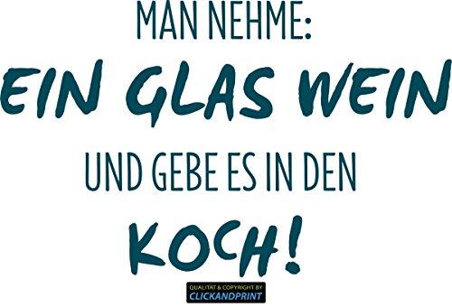 CLICKANDPRINT Aufkleber » Man nehme: Ein Glas Wein, 170x104,7cm, Metallic Teal • Dekoaufkleber / Autoaufkleber / Sticker / Decal / Vinyl
