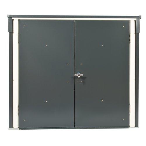 Tepro Mülltonnenbox, anthrazit / weiß, 154.2 x 96 x 130.5 cm - 6